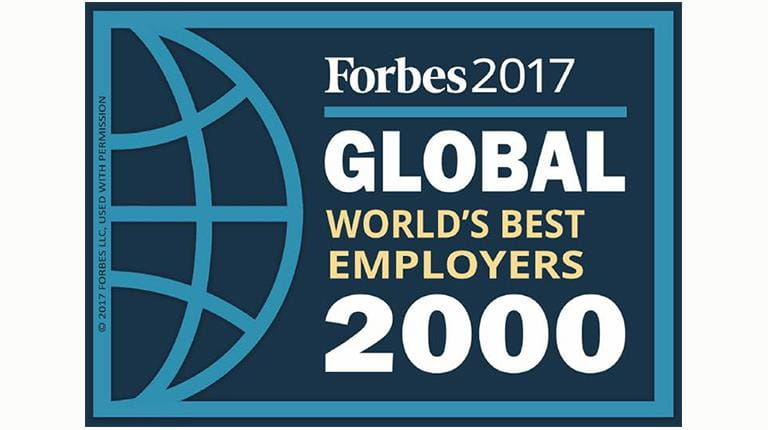Forbes2017 Global World's Best Employers 2000 logo