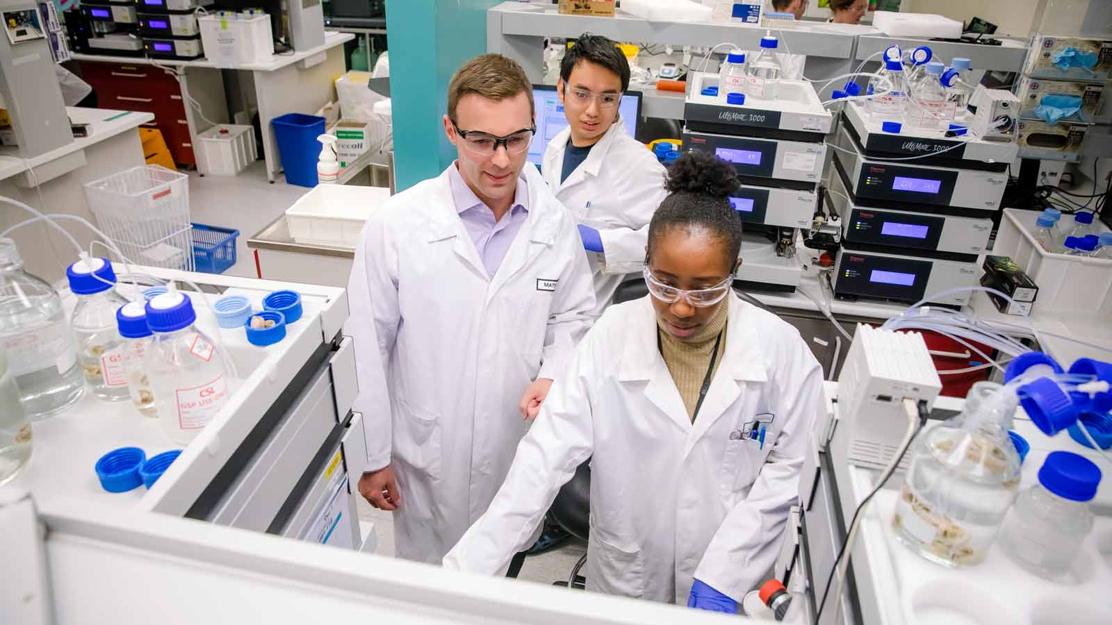 CSL Behring lab employees in Australia