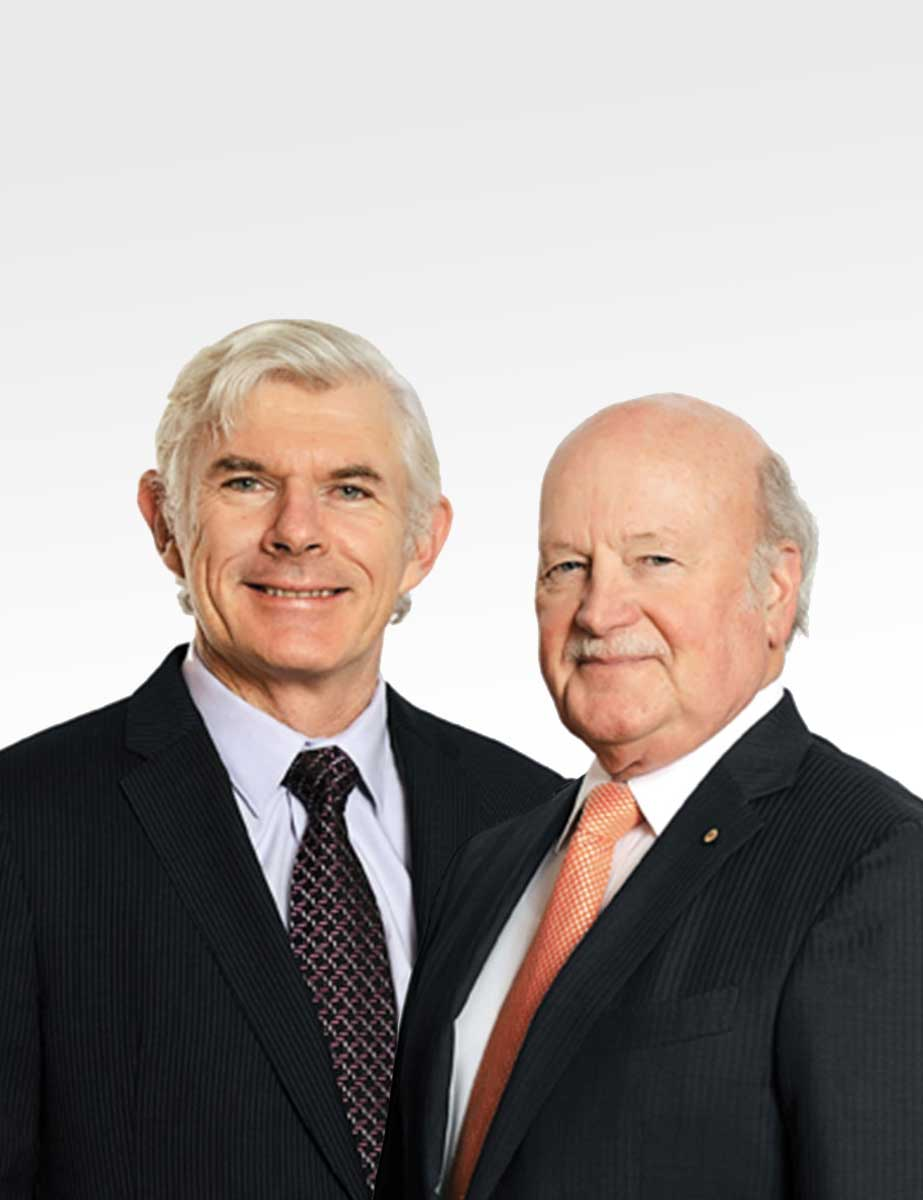 Previous CSL CEO and MD Brian McNamee and CSL Chairman John Shine
