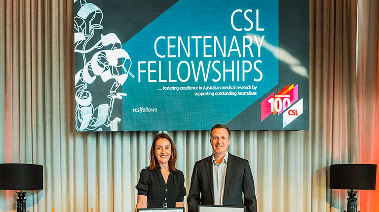 Image of two previous CSL Centenary Fellowship recipients