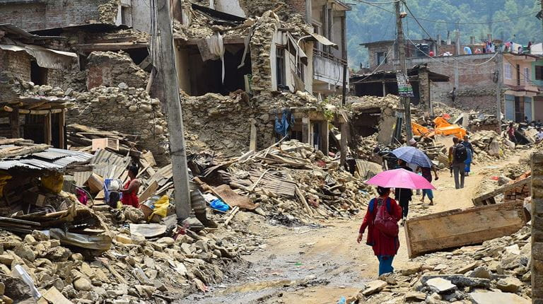 Disaster relief for devastated communities