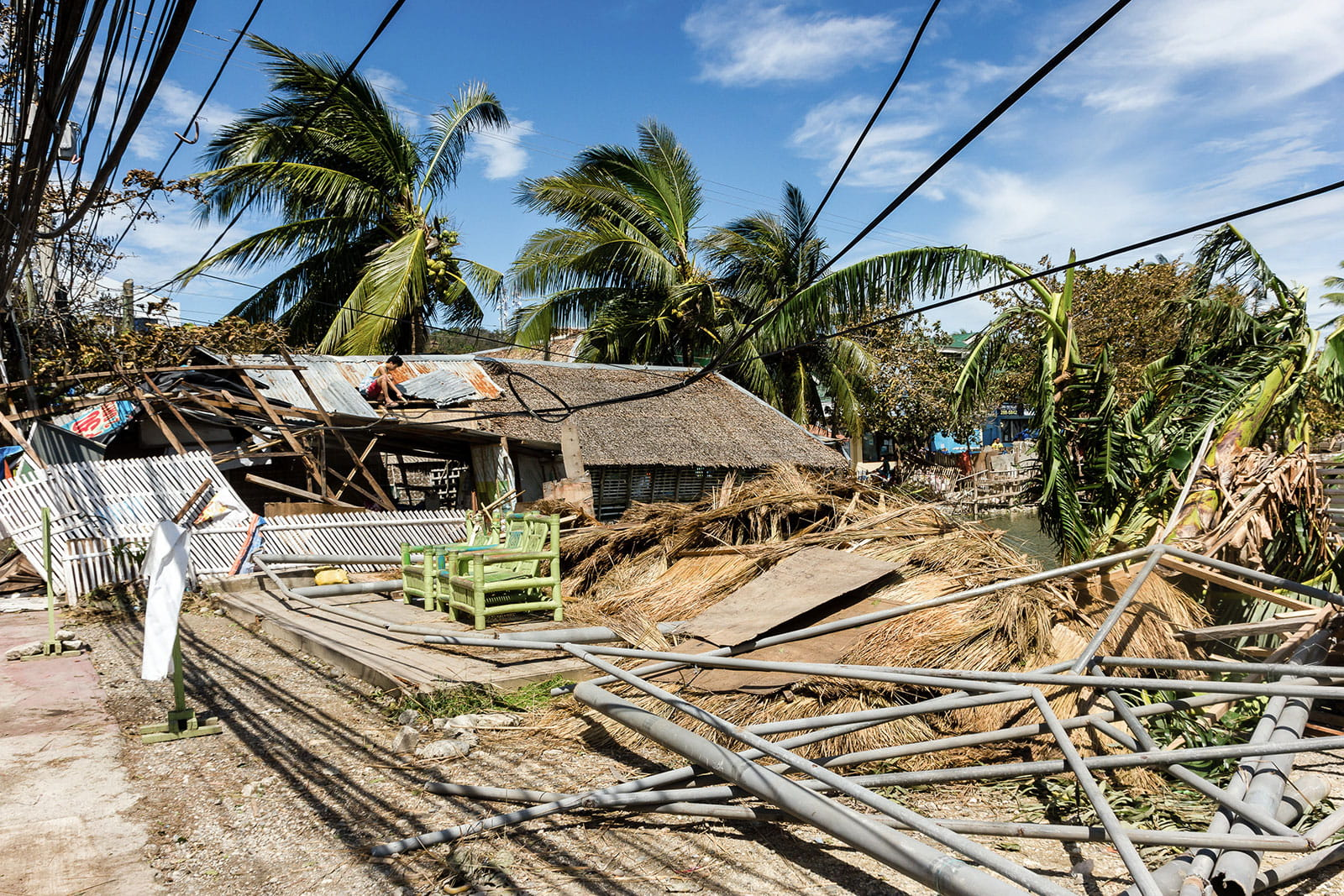 Disaster relief for devastated island communities
