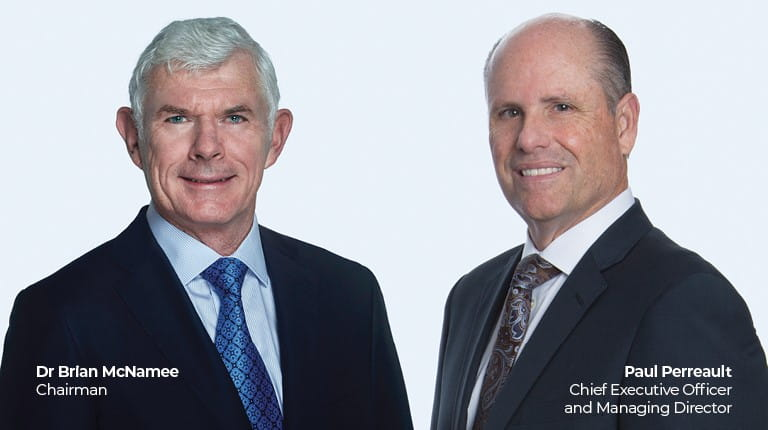 Image of Paul Perreault and Brian McNamee of CSL Limited