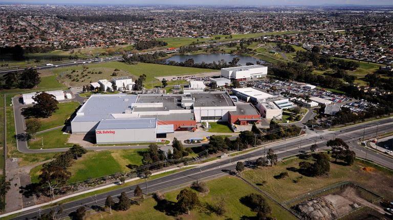 Aerial view of CSL Berhing Australia Broadmeadows site